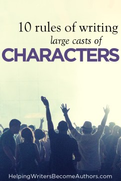 10 rules of writing large casts of characters