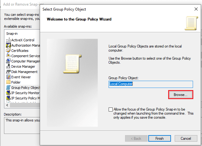 Group Policy Wizard