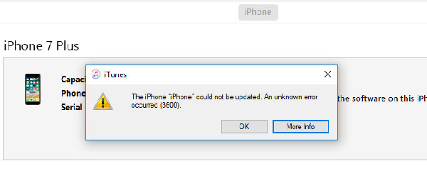 How to fix iTunes Error 3600 in few steps?