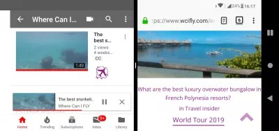 How to split screen on Android PIE version? : Rotate phone to change split screen orientation