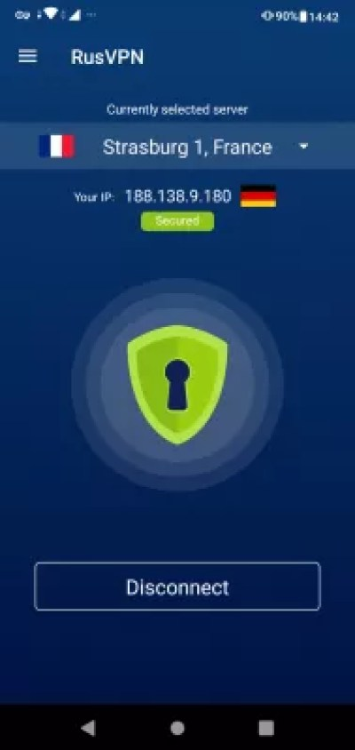 How to Set Up a VPN on Your Mobile Phone? : Connected to a VPN on cell phone with RusVPN