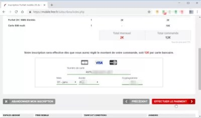 How to switch from SOSH to FREE? : Payment information