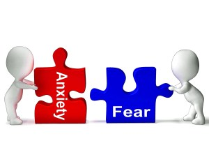 Anxiety Fear Puzzle Meaning Anxious Or Afraid