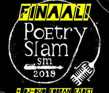 Poetry slamin SM-finaalin juliste