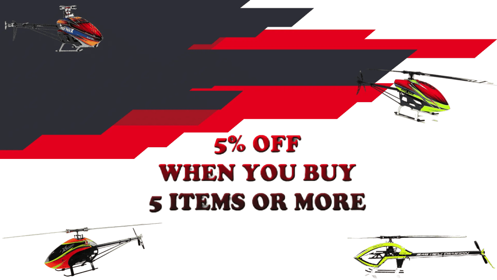 5% OFF WHEN YOU BUY 5 ITEMS OR MORE
