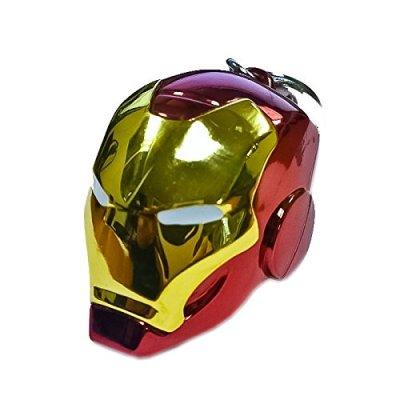 Smic-SMK002-Porte-Cls-en-Mtal-Casque-en-Couleur-dIron-Man-Hro-des-Avengers-et-de-lUnivers-Marvel-0