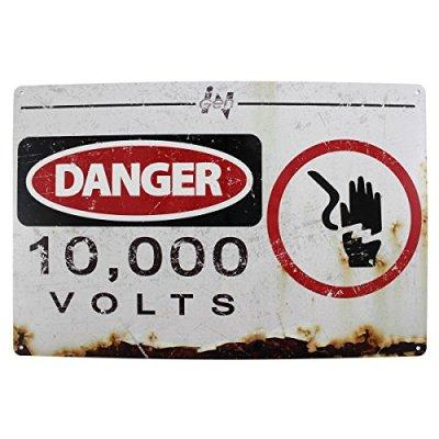 Jurassic-Park-10000-volts-Movie-Plaque-en-mtal-0