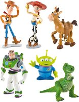 Bullyland-Pixar-Disney-Toy-Story-3-Set-6-Figurine-Buzz-LEclair-Jessie-Rex-Woody-Bullseye-Alien-0