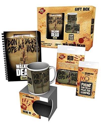 Empire-Interactive-Walking-Dead-Coffret-cadeau-avec-1-tasse-1-carnet-A5-1-porte-cls-1-porte-cartes-Produits-sous-licence-0