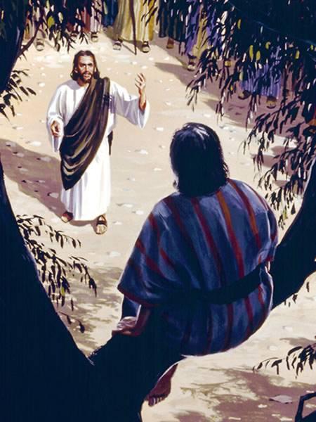 Jesus calls Zacchaeus