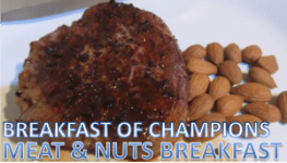 MEAT AND NUTS BREAKFAST