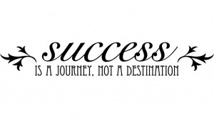 secret to success - success-is-a-journey-wall-art-stickers
