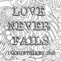 love never fails kleurplaat