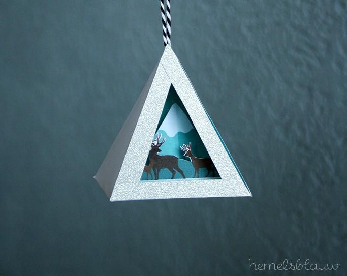Een leuke winterse versiering voor in huis naar een do it yourself blog van hemelsblauw