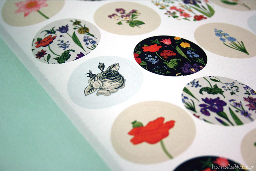 Stickers met bloemen