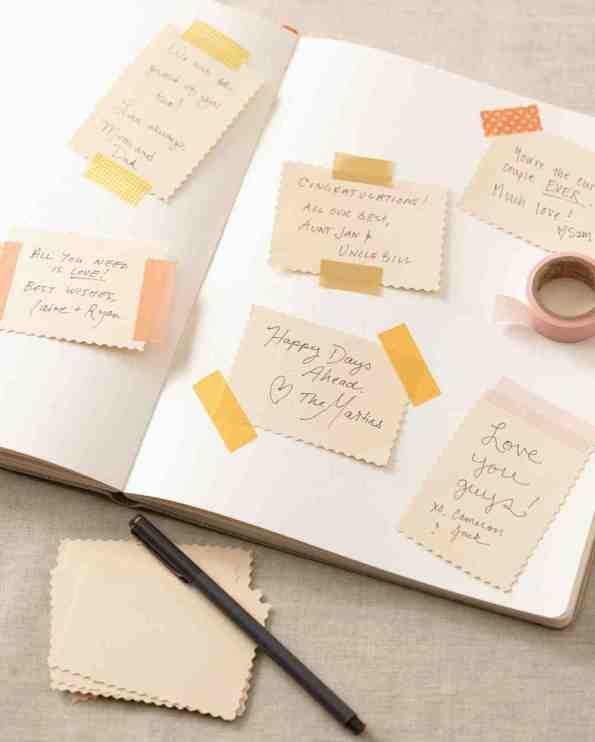 washi tape gastenboek hemelsblauw