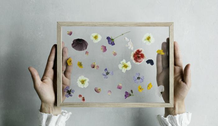 bloemetjes muur