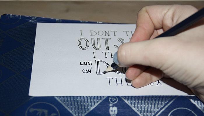Diy theedoos customizen hemelsblauw nederlandse diy blog for Carbon papier