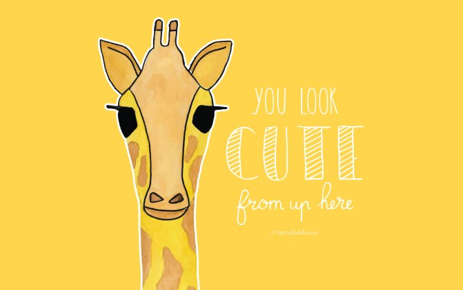 bureaublad achtergrond hemelsblauw - giraf