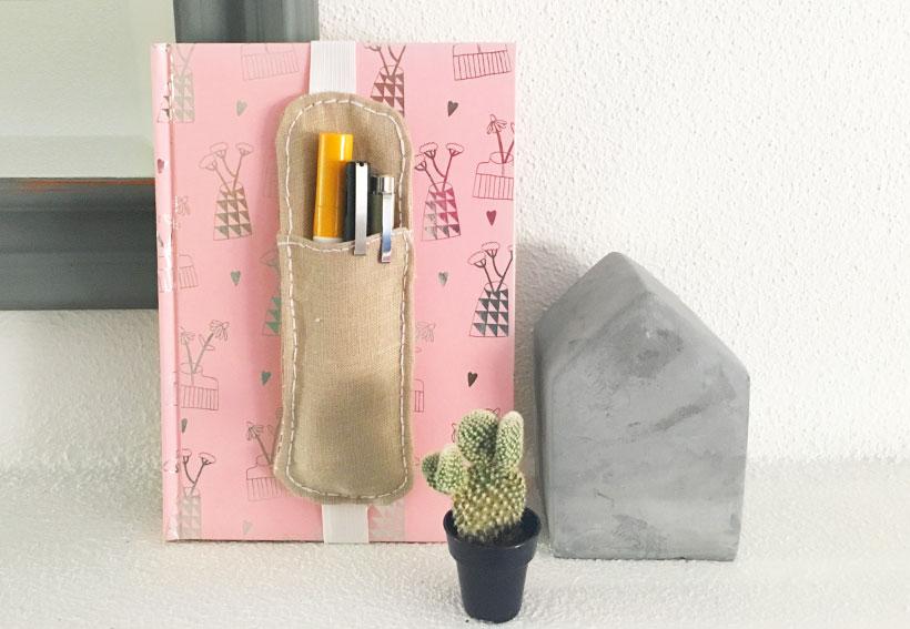 DIY: pennenhouder voor op je notitieboekje