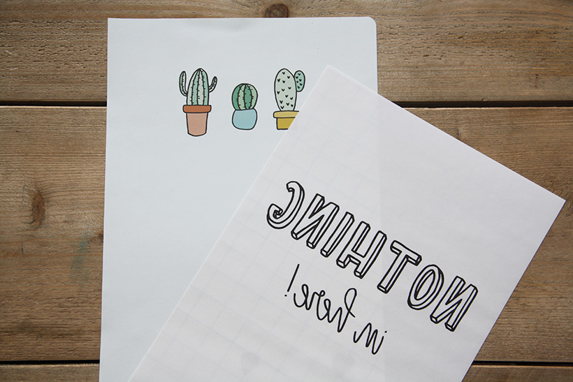 transferpapier action printen met inkjet printer
