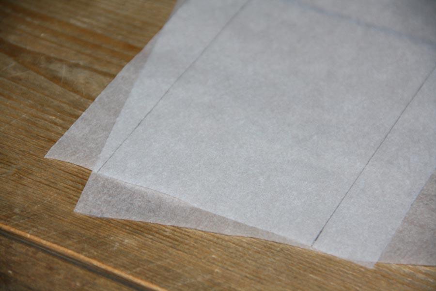 bakpapier lampion maken
