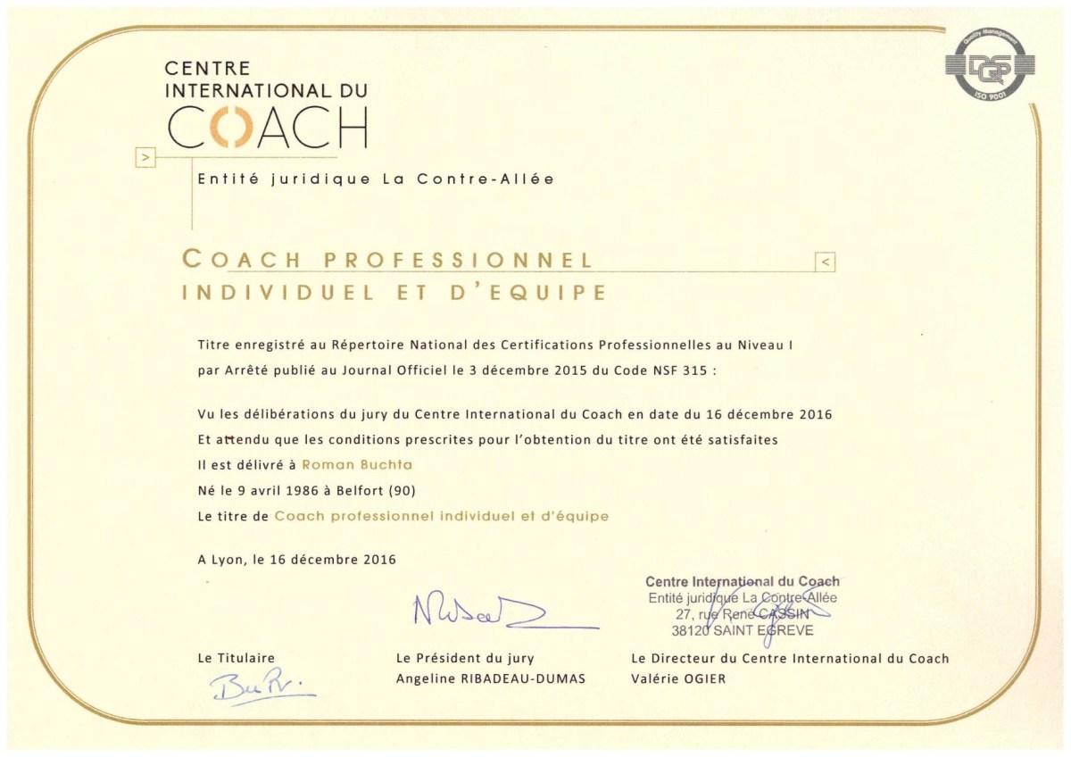 Certification-Coach-RNCP-I -Roman Buchta