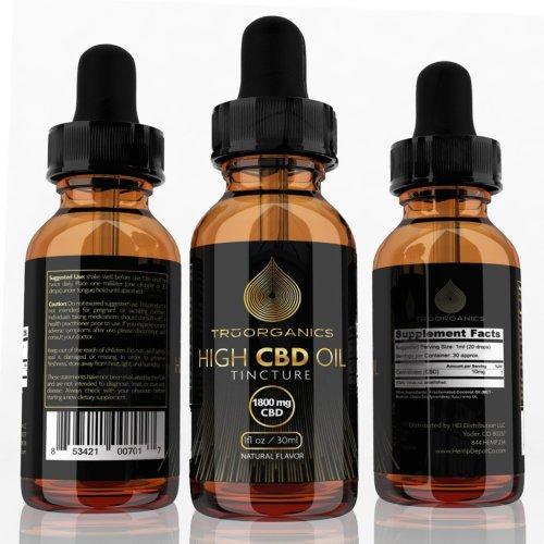 Tru Organics – CBD Tinctures (1,800mg)