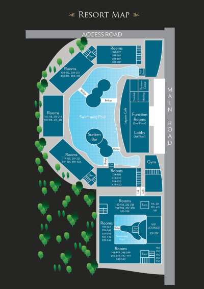 HENANN LAGOON RESORT Resort Maps