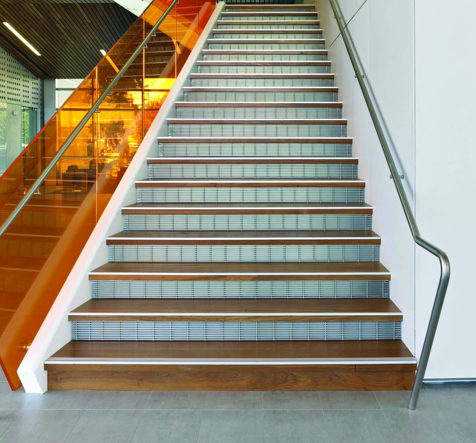 Metal Stair Treads Risers Perforated Metal Stair Panels | Prefabricated Exterior Metal Stairs | Stair Case | Spiral Staircases | Stairways | Stair Systems | Wrought Iron