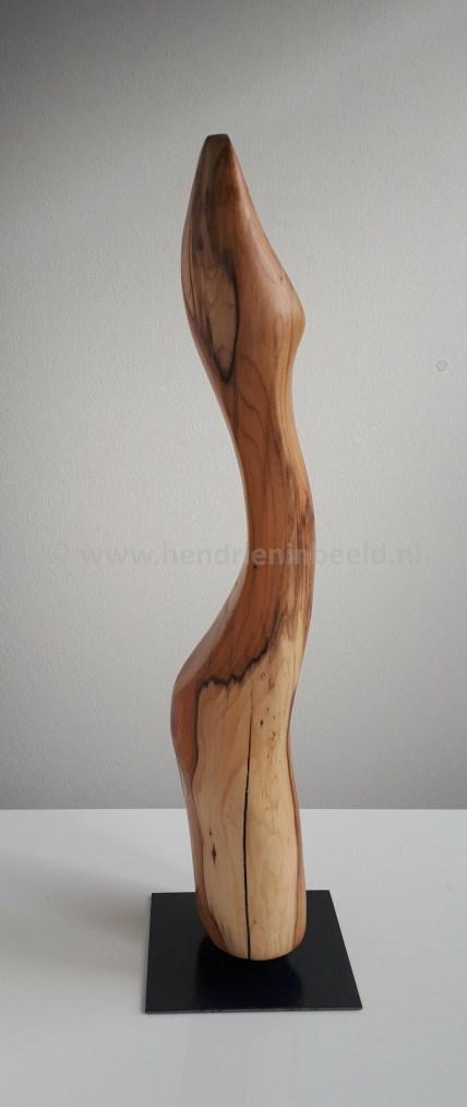 Taxushout op stalen voet, hoogte ca 55 cm