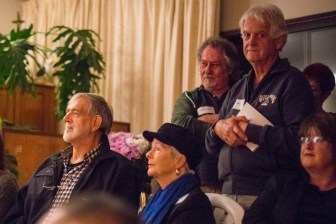 A strikingly sad photo of Norval Geldenhuys looking at the camera. Also in the photo are Carel Trichardt, Petru Wessels, Malcolm Doyle-Davidson and Carin Geldehuys