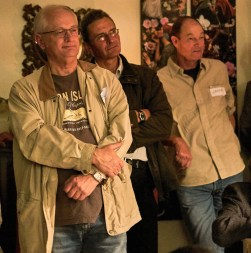 Rapt attention during one of the presentations: Paddy Attwell, Mark Mentz and Gregor Leigh   photo credit: Ken Barris
