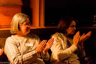 Captured at the end of a presentation are Ingrid Alberts and Louise Cokayne | photo credit: Oscar O'Ryan