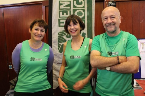 Cathy, Alison & Paul at the Village Evening