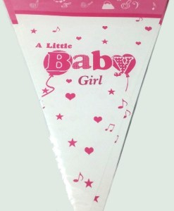 A Little Baby Girl Bunting Flags
