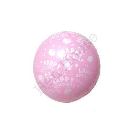 Pink Birthday Latex Balloon