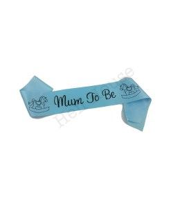 Blue Mum to Be Sash