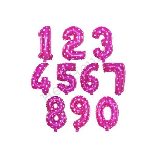 Heart Number Balloon