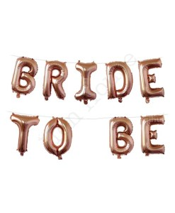 Rose Gold Bride to Be Balloons