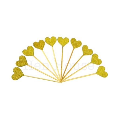 Gold Heart Toppers