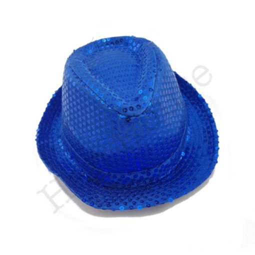 Blue Sequin Hat