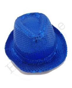 Blue Sequin Hat