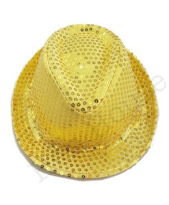 Gold Sequin Hat