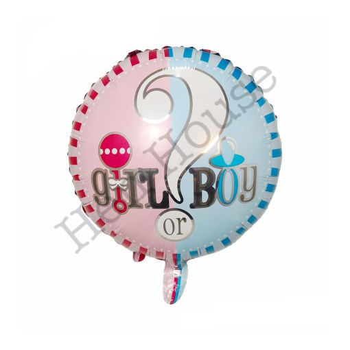 Dual Color Gender Reveal Balloon
