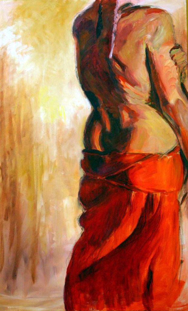 """Henia Flynn's """"Freia"""" Acrylic on Canvas 36"""" x 48"""