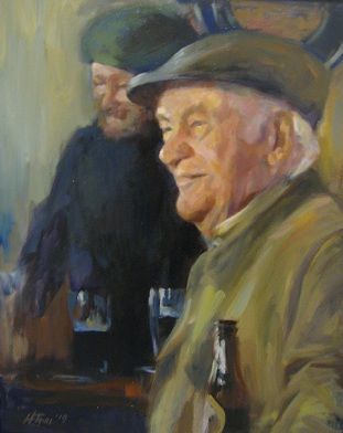 "Henia Flynn's Pint For Paddy Oil on Canvas 18"" x 24"""