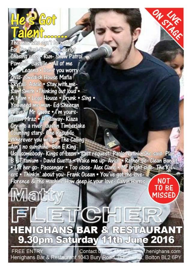 Matty Fletcher Poster