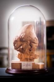 Legno di pero e vetro (42×26x 26 cm)