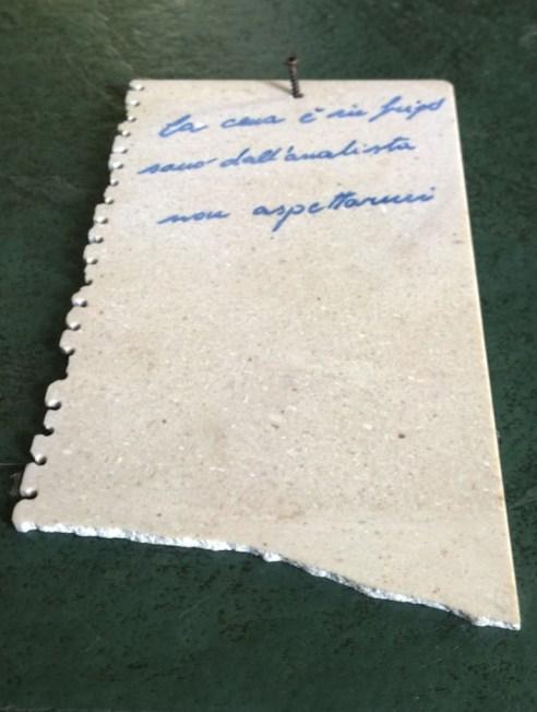 marmo e resina epossidica (23x13x0,3 cm)